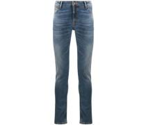 'Skinny Lin' Jeans mit Stone-Wash-Effekt