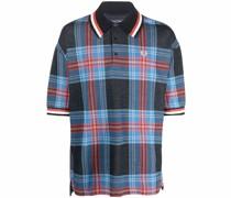 Oversized-Poloshirt mit Schottenkaro