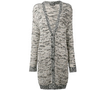 - v-neck long cardigan - women - Baumwolle - L