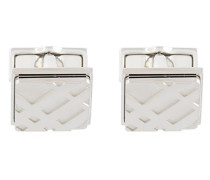 embossed plaid cufflinks