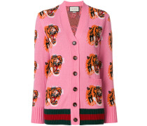 Tiger Face embroidered cardigan