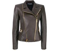 asymmetric biker jacket