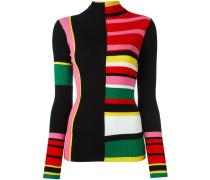 Wollpullover in Colour-Block-Optik