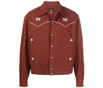 embroidered butterfly shirt jacket