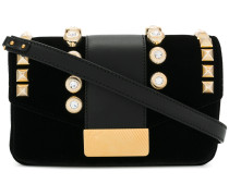 stud embellished shoulder bag