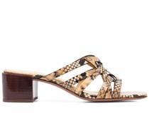 Sandalen mit Schlangen-Optik
