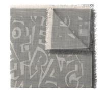 Wollschal mit Print