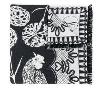 Schal mit Hahn-Print