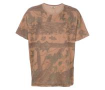 T-Shirt mit Baum-Print