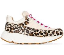 'Montegrappa' Sneakers mit Leoparden-Print
