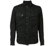 Jeans-Jacke mit gesticktem Muster