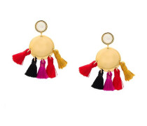 Vergoldete 'Fiesta II' Ohrringe mit Perlmutt