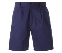 Jeans-Shorts mit Bundfalten