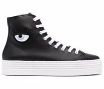 Blinking Eye High-Top-Sneakers