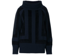 square intarsia jumper