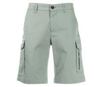 logo-print stretch-cotton cargo shorts