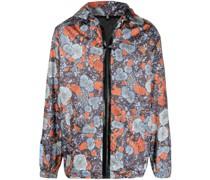 Jacke mit abstraktem Blumen-Print