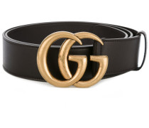 double G buckle belt - men - Kalbsleder/Messing