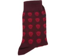 skull print socks - men - Baumwolle