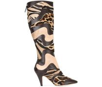 Stiefel mit tierischem Print
