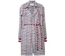 Tweed-Mantel mit Gürtel