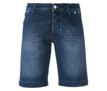 Jeans-Bermudashorts mit Knopfverschluss
