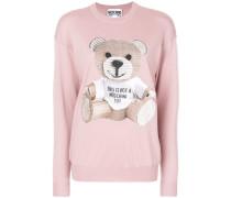 Schurwollpullover mit Teddybär-Motiv