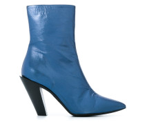 angled heel ankle boots
