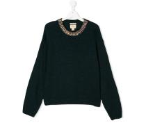 Pullover mit Metallic-Kragen