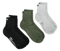 3er-Pack gerippte Socken