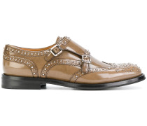 double monk strap shoes with studs