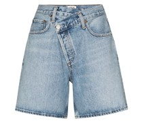 Jeans-Shorts in Wickeloptik