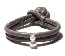 Wickelarmband mit Perlen und 14kt Goldelement