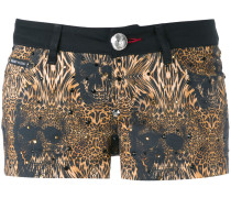 leopard print shorts - women