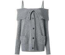 oversized off-the-shoulder cardigan