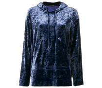 high shine hooded sweater