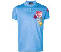 badge embroidered polo shirt