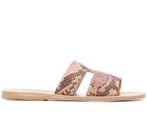 'Apteros' Sandalen mit Schlangenleder-Optik