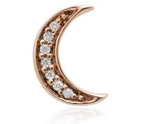 14kt 'Crescent Moon' Rotgoldohrstecker