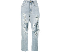Chlo High Waisted Distressed Cropped Jeans