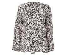 abstract print Vneck shirt