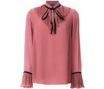 Bluse mit plissierten Rüschen