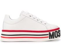 Gestreifte Flatform-Sneakers