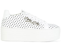 Flatform-Sneakers mit Sternenmuster