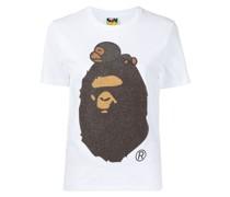 A BATHING APE® T-Shirt mit Glitter-Logo