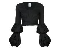 puff sleeve wrap blouse