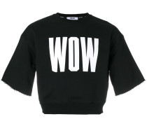 Wow print cropped sweatshirt