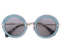 - appliquéd round frame sunglasses - women