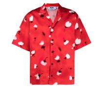 Bowlinghemd mit Dandelion-Print