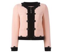 Cropped-Jacke mit Kontrastbesatz